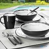 Brunner: Melamin-Geschirr Campinggeschirr (Antislip), 4 Personen (16 Teilig), Granada Lunch Box, Grill Und Picknick - 6