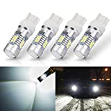 ANTLINE Extremely Bright 7443 7440 T20 7441 992 W21W 21-SMD 2835 Chipsets 1260 Lumens LED Bulb Replacement White for Car Backup Reverse Brake Tail Turn Signal Lights Bulbs DRL (Pack of 4)