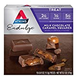Atkins Milk Choco Caramel Squares. Delicious Low-Sugar Treats with Choco and Caramel. (15 Pieces) by Atkins