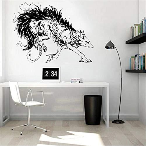 WERWN Timber Wolf Mural Studio Sofa Cruel Beast Pegatinas de Pared para la decoración del Arte de la Sala de Estar