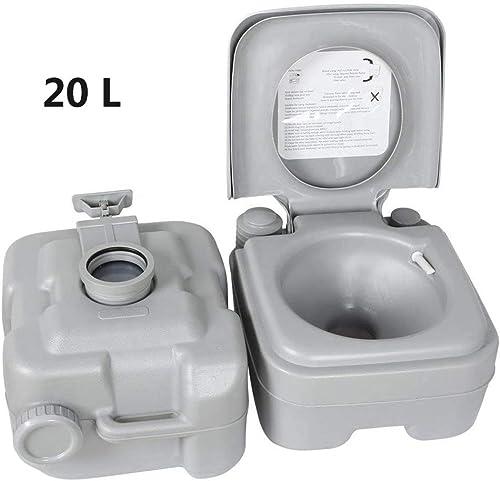 BDFA Toilette Portative De 20 litres, Outil De Désinfection des Toilettes Amovibles pour Les Loisirs en Camping en Plein Air De 5 Gallons