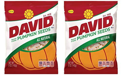 David Pumpkin Seeds, Roasted and Salted, 5 oz bag, (2 pack)