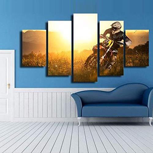 mmwin Moderno Salón de Lona HD Impreso 5 Paneles Zen Flor Orquídea ...