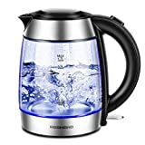Best Electric Tea Kettle Cordlesses - REDMOND Electric Kettle, 1.7L Cordless Glass Tea Kettle Review