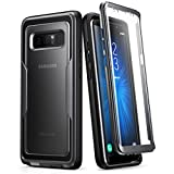 Etui pour Samsung Galaxy Note 8 (2017) i-Blason Série Magma Coque / Housse protective avec conception double couche et protecteur d'écran intégré et un clip de ceinture (Noir)