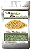 The Spice Way Yellow Mustard Seed -   6 oz   whole seeds, resealable bag