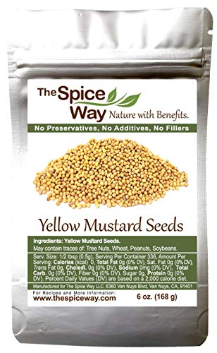 The Spice Way Yellow Mustard Seed - | 6 oz | whole seeds, resealable bag
