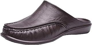 Yusea Zapatillas cómodas sin espalda, para hombre, transpirables, antideslizantes, para verano al aire libre