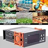yissma termometro per acquario impermeabile, termometro per acquario digitale per acqua dolce e acqua di mare per terrari da rettile in serra
