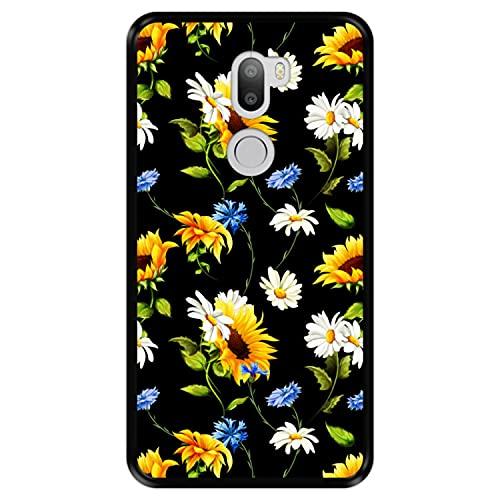 Hapdey Funda Negra para [ Xiaomi Mi5s Plus - Mi 5s Plus ] diseño [ Patrón Floral, Flores Multicolores 2 ] Carcasa Silicona Flexible TPU