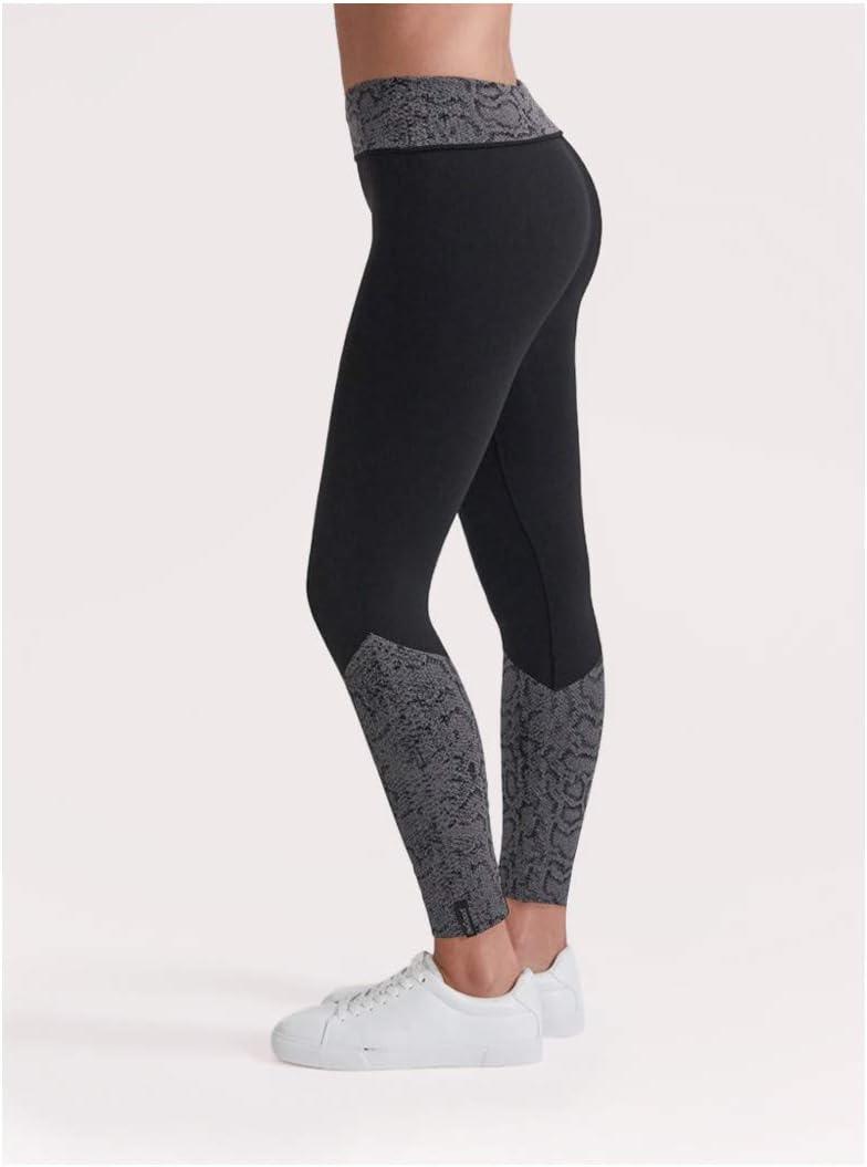 BeGood Legging Superslim Pancia Piatta drenante e idratante con Inserti Jaquard pitonati