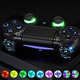 eXtremeRate LED Botones para Mando PS4 Botón de D-pad L1 R1 R2 L2 Joysticks Home Face Multicolores Teclas DTFS(DTF 2.0)Kit para PS4 Controlador CUH-ZCT2 DIY 7 Áreas en 10 Colores Modos-Símbolo Clásico