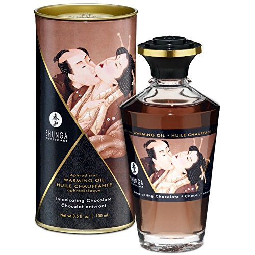 SHUNGA ACEITE MASAJE EFECTO CALOR SABOR INTENSO CHOCOLATE 100 ML