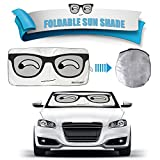 2win2buy Cartoon Car Windshield Sun Shade, Front Auto Car Windshield SunShade Foldable UV Rays Sun Visor Protector with Unique Design to Keep Your Vehicle Cool and Damage Free (Big Eye-Big)