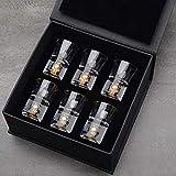 XZY Gold Foil Crystal Shot Glas Wein Dekanter Set Bullet Cups Wodka Likör Spirituosen Gläser Moonshine Zubehör 6 Tassen