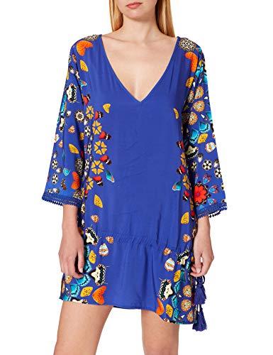 Desigual Top_MAUI Swimwear Cover Up, Azul, M para Mujer