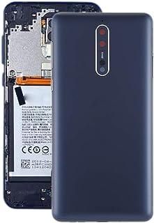 Battery case Jrc Battery Back Cover with Camera Lens & Side Keys for Nokia 8 / N8 TA-1012 TA-1004 TA-1052(Blue) Mobile pho...