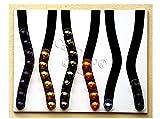Portacapsule capstores distributore per 60 capsules tipo nespresso (bianco e nero)