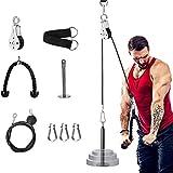 Fitness Poulie avec câble de fixation pour machine 1,4 m, 1,8 m, 2 m de longueur réglable avec épingle de chargement, sangle de levage pour triceps pour la maison, la salle de sport