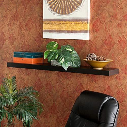 MISC Sorlie 48-inch Stylish Black Floating Shelf MDF Wood