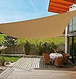 LVAND Upgrade Shade Sails Rectangle 16'x 20' UV Block Awning Canopy for Patios Outdoor Backyard Garden Playground