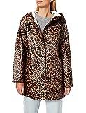 Only ONLELLEN Raincoat CC OTW Abrigo para Lluvia, Coconut/AOP: Leopardo, L para Mujer