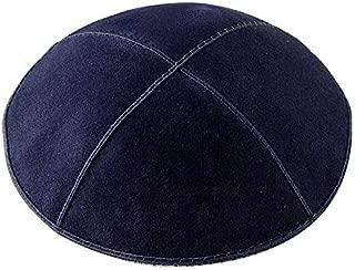 Navy Suede Kippah - Medium, Kippahs & Accessories Size: 6 D
