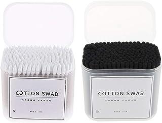 shamjina 400Pcs Cotton Swabs Buds Stick Tips Eyelash Makeup Cleaning Tools