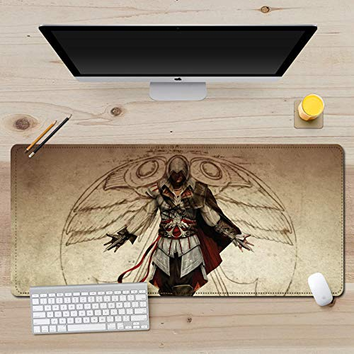 Tappetini per Mouse Pad Aumenta Ispessimento Tappetino per Notebook Assassin s Creed Gaming Mouse Mousepad (700 X 300 mm)-4_900x400