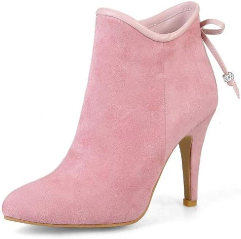 Fancyww Women's Platform Stiletto Side Zip High Heel Ankle Boots shoes