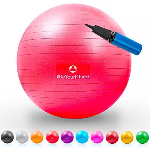 Gymnastik-Ball »Pluto« / Robuster Sitzball und Fitnessball / 85 cm/rot