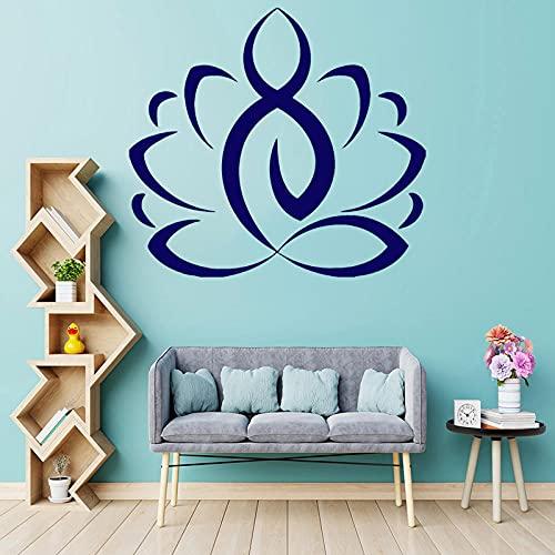Vitrinas Lotus Wall Etiquetas de vinilo Yoga Meditación Decoración del hogar Dormitorio...