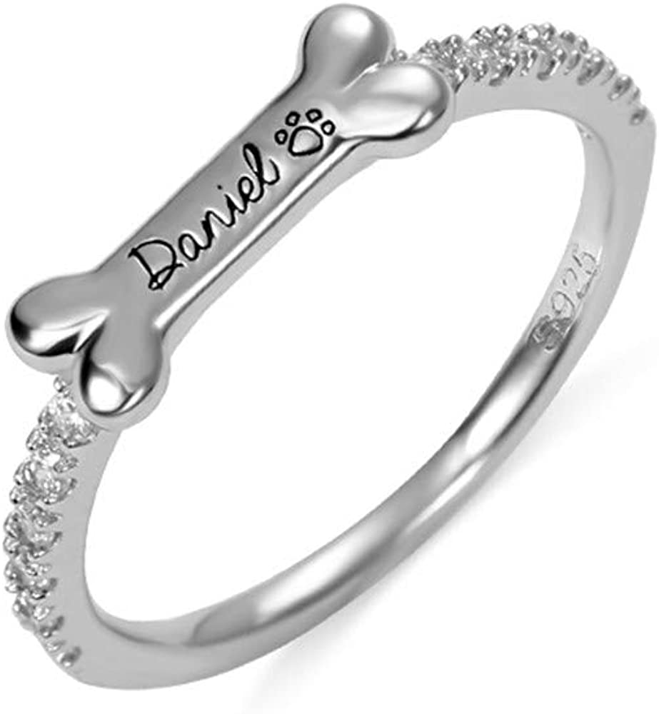 AILIN Bone Ranking TOP17 Shape Personalized Name price Cub Dainty Ring With Pet