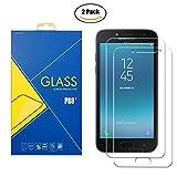 Glass Com [2Pack] Protector Cristal Templado Samsung Galaxy J2Pro 2018/sm-j250F/DS/J250/j250F–Pantalla Antigolpes antigrafio