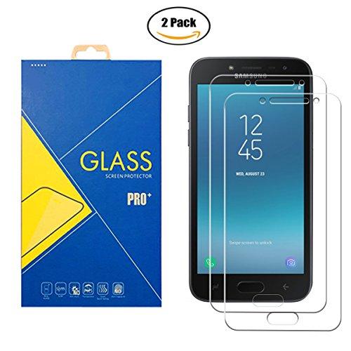 ILeaf [2 Pack] Pellicola Vetro Temperato Compatibile Samsung Galaxy J2 Pro 2018/SM-J250F/DS/J250/J250F - Schermo Antiurto Antigraffio