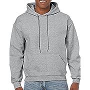 Gildan Men's Fleece Hooded Sweatshirt, Style G18500, Sport Grey, Medium