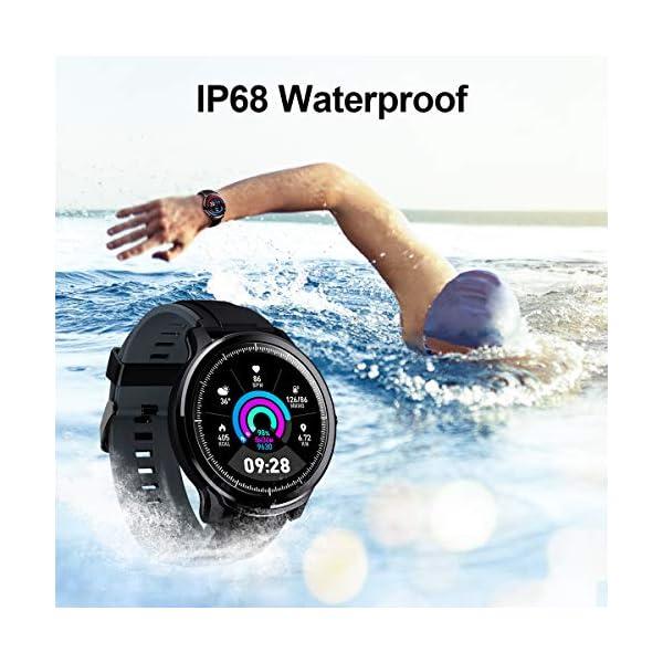 GOKOO Bluetooth Smartwatch Hombre Reloj Inteligente Fitness IP68 Impermeable Actividad Monitor Pulsómetro Compatible con… 3