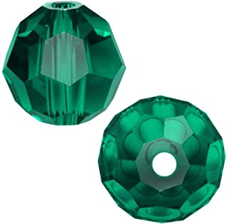 100pcs 4mm Adabele Austrian Small Round Crystal Beads Emerald Green Compatible with 5000 Swarovski Crystals Preciosa SS2R-424