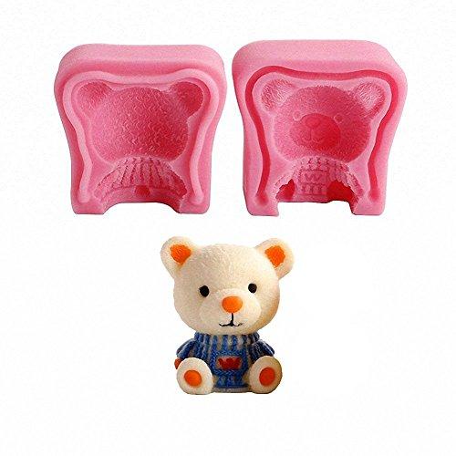 3D Teddy Bear Silicone Mold - MoldFun Bear Mold for Candle, Fondant, Chocolate, Wax Crayon, Mino Soap, Bath Bomb, Lotion Bar, Plaster of Paris