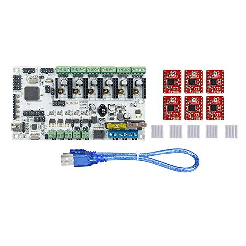 IJeilo Rumba Plus 3D Printer Kits Motherboard Controller Board with 6pcs Red A4988 Stepper Motor Drive 3D printers, as spare parts consumables