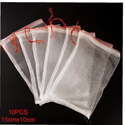 Case Cover 10pcs Supermarkt Wiederverwendbare Schutztasche Samen Einweichen Samen Keimung Frucht-Netz Beutel Garten-Gemüse Nylon 15cm * 10cm