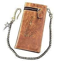 レザーチェーンウォレットバイカー・メンズ 本革の財布 80149