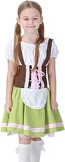 yolsun Oktoberfest Halloween Costume for Girls Dirndl Bavarian Dress up