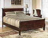 Ashley Furniture Signature Design - Alisdair Queen Sleigh Headboard/Footboard - Component Piece - Dark Brown