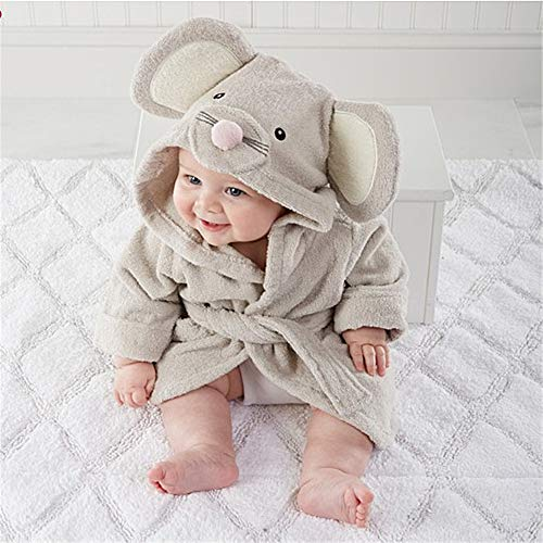 新生児男の子女の子バスローブ長袖春動物カバーオールベビー布団0-3歳Mouse-90cm