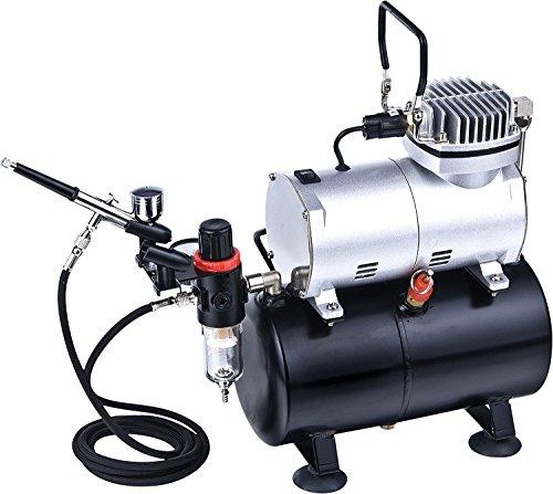 DOBLE ACCIÓN Gravedad AERÓGRAFO alimentación SET KIT tanque del compresor de aire Hobby artesanía Arte AS186K30