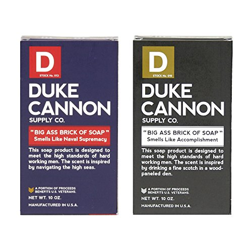 Duke Cannon Supply Co. - Big Ass Brick of Soap, Smells Like Naval Supremacy and Accomplishment (2 Pack 10 oz Each) Honor Military Heritage With a Long Lasting Bar Soap Bundle