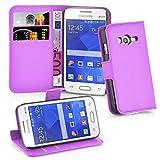 Cadorabo Hülle für Samsung Galaxy ACE 4 LITE in Mangan VIOLETT - Handyhülle mit Magnetverschluss, Standfunktion & Kartenfach - Hülle Cover Schutzhülle Etui Tasche Book Klapp Style