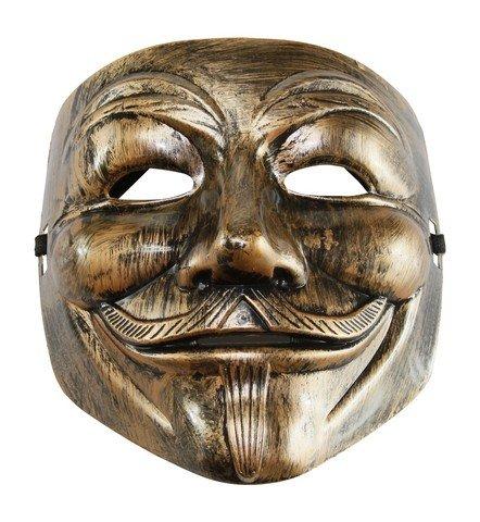 KAYSO AZ002BR Bronze V para Vendetta Guy Fawkes Máscara de fantasia de plástico – Tamanho único