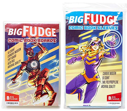 Big Fudge Archival Comic Book Bags and Boards Pack of 50...